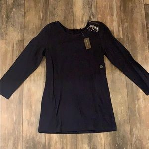 NWT The Limited XS Navy Top
